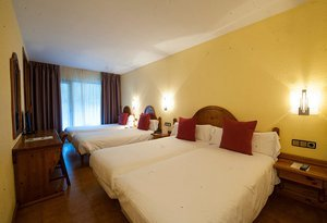 The quadruple rooms of the Hotel Sant Gothard are perfect ...